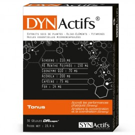 Dynactifs - Tonus Fatigue et performance - 30 gélules DRcaps