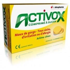 Activox - Pastilles, arôme Miel Citron, sans sucre - 24 Pastilles