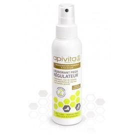 Apivita - Déo spray pieds régulateur - Tube 100 ml