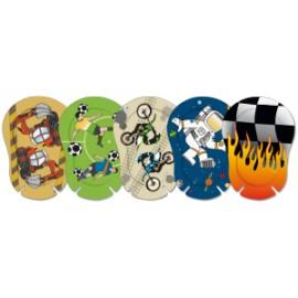 ORTOPAD ® boys - Cache oculaire occlusif Regular grands motifs - boîtes de 50 pièces