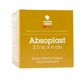 Marque verte - Absoplast - Bande adhésive élastique - 2.5 m x 3 cm