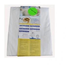 Housse de matelas anti-acariens en polycoton 140x190 (20cm)