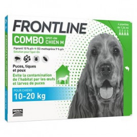 Frontline Combo - Chiens 10/20 Kg - 4 Pipettes