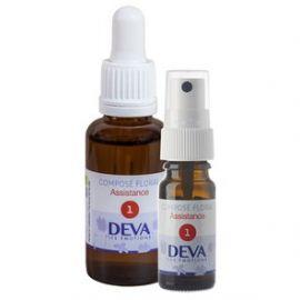 Deva - Fleurs de Bach Elixir Composés floraux N°01 Assistance - Spray 10 ml