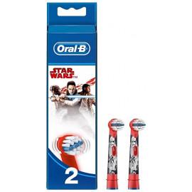 Oral-B - Recharge de 2 Brossettes Brosse à Dents Electrique Enfants - Star Wars