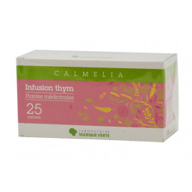 Marque verte - Infusion Thym sachet filtre - Boîte de 25 sachets dose