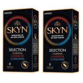 Manix - Skyn Sélection Kit Sélection - Lot de 2 Boites de 9 préservatifs