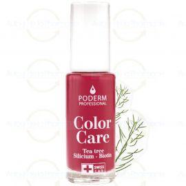 Poderm - Vernis Tea Tree Color Care - Couleur: Rouge Rose - 8 ml