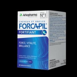 Forcapil - Anti-Chute cheveux et ongles - force vitalité brillance - 180 Gélules + 60 Gratuites