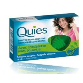Quies - Protections Auditives avec cordelette - 1 paire