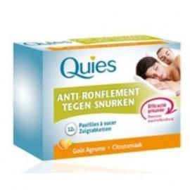 Quies - AntiRonflement PASTILLE A SUCER goût agrumes - boîte de 12 pastilles