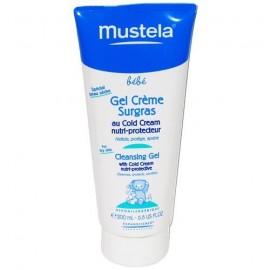 Mustela Bébé - Gel Crème Nettoyante Surgras Au Cold Cream - Tube De 200 Ml