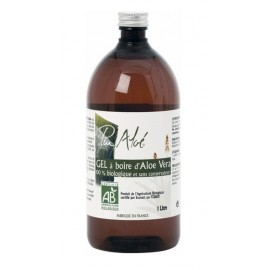 Pur'Aloé - Gel d'Aloé Vera à Boire Bio - Bouteille 1 litre