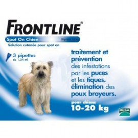 Frontline - Spot-On Chien 10/20 kg - 4 Pipettes
