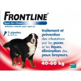 Frontline - Spot-On Chien 40/60 Kg Géant - 4 Pipettes