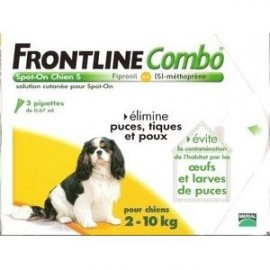 Frontline Combo - Chiens 2/10 Kg - 6 Pipettes