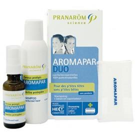 Aromapar - Pranarôm - DUO - shampooing + lotion en vaporisateur + peigne - sans parabens