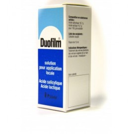 Duofilm - Solution Verrues Plantaires pour application locale - Flacon de 15 ml Avec Pinceau Applicateur